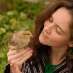 Angela Reed with Chick