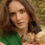 Angela Reed with Chicks