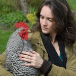 Angela Reed with Rooster