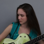 Angela Reed with Guitar at Euphoria